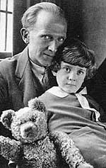 А. А. Милн с сыном Кристофером Робином
